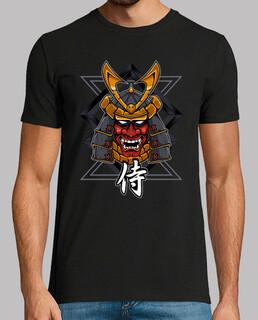 guerrier samouraï avec masque de démon