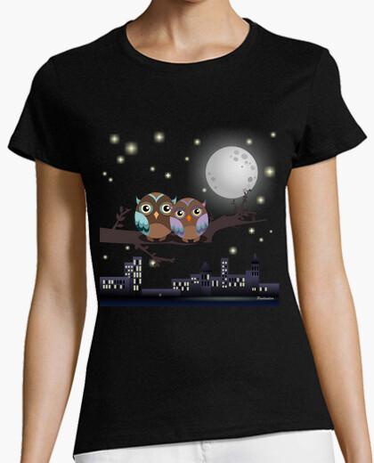 T-shirt gufi in innamorati kawaii