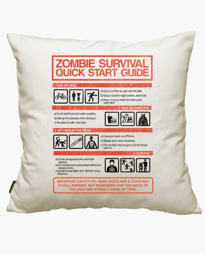 Housse de coussin guide de démarrage rapide de survie zombie
