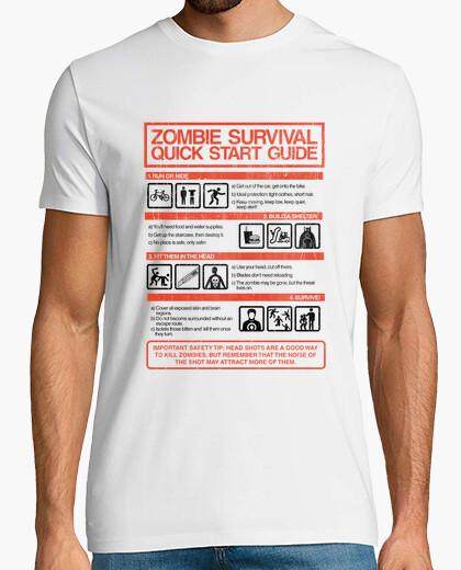 Tee-shirt guide de démarrage rapide de survie zombie