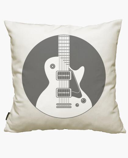 Guitar inside a circle cushion cover