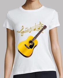 guitare acoustique avec partition
