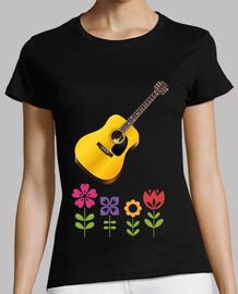guitare avec fleurs