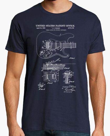 Tee-shirt guitare électrique brevetée vintage