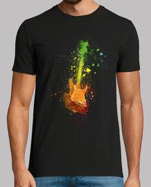 guitare électrique et peinture