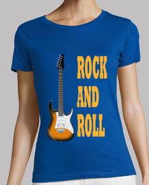 guitare rock and roll orange