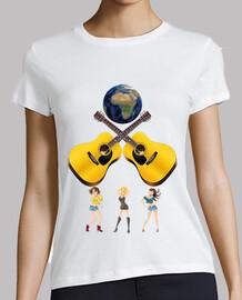 guitares avec la terre et caution and o