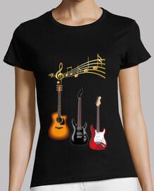 guitares électriques avec partition mus