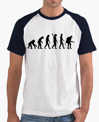 Camiseta guitarra de evolución rock músico