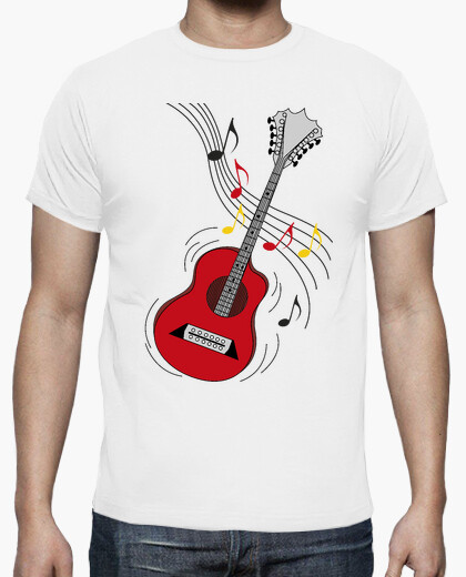 Camiseta guitarra de rock divertido