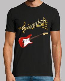 Guitarra electrica con partitura musica