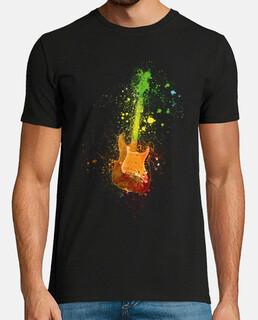 Guitarra electrica y pintura