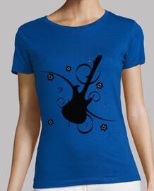 Guitarra Flor Cerezo Nota Musical
