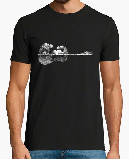 Camiseta guitarra natural