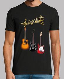 guitarras electricas con partitura musi