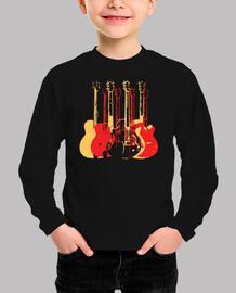 guitarras modernas y coloridas