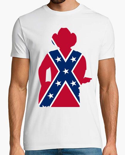 Camiseta Guitarrista cowboy bandera sureña