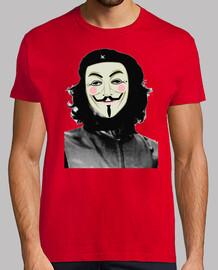 guy fawkes che guevara anonymous camisetas friki