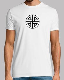 guy solaire croix, manches courtes, blanc