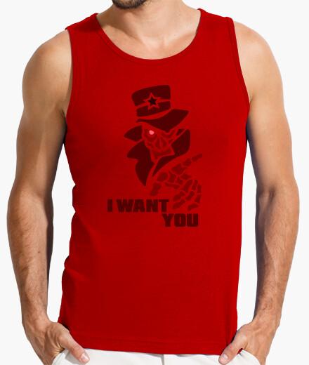 Camiseta h / iwantyou rouge par stef