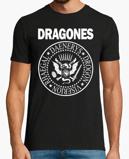 Tee-shirt h dragon (blanc)