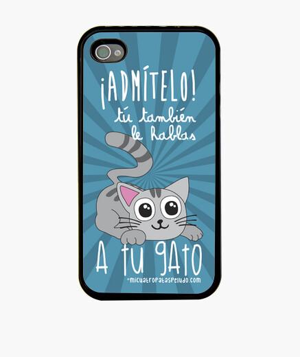 Hablar a tu gato -  Funda Iphone 4/4S negra