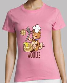 haciendo im woofles - camisa de la mujer