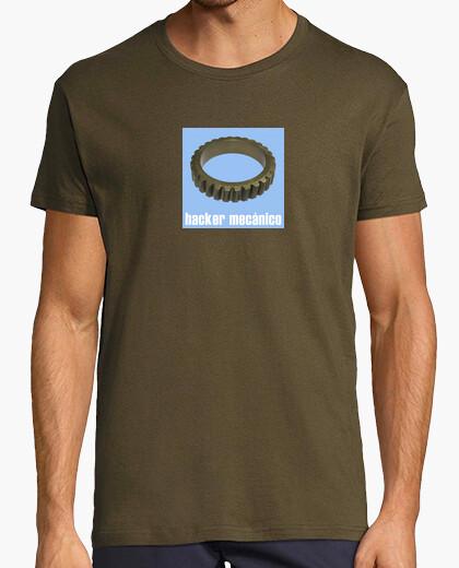 Camiseta Hacker mecánico azul