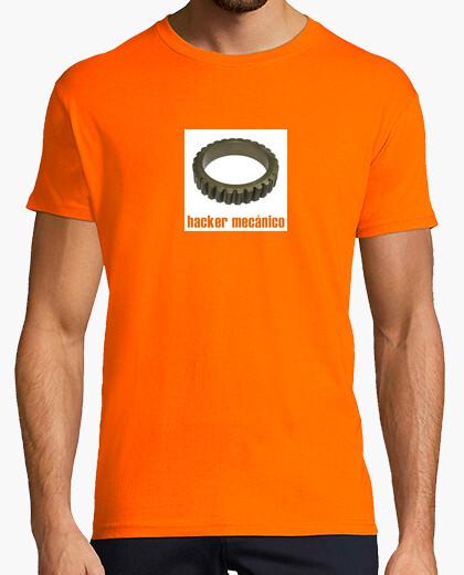 Camiseta Hacker mecánico blanco