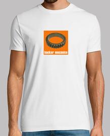 Hacker mecánico naranja