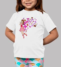 hada con las mariposas de color rosa