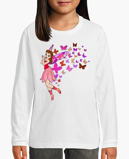 Ropa infantil hada con las mariposas de color rosa
