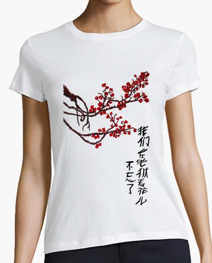 Camiseta Haikú en chino (chica)