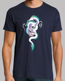 haku el espíritu río camisa para hombre