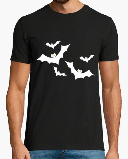 Camiseta halloween murciélagos blancos