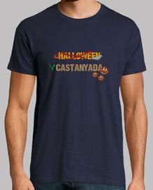 Halloween vs Castanyada samarreta màniga curta home