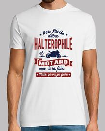 Halterophile et motard