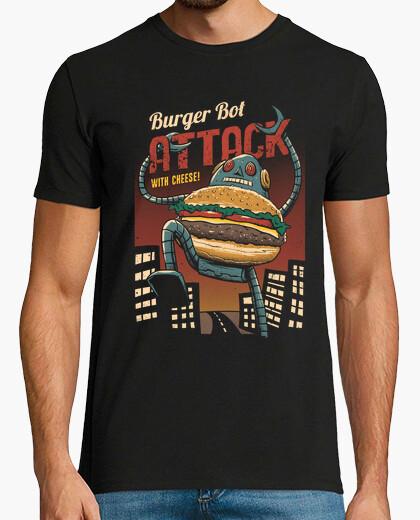 Hamburguesa bot camiseta para hombre