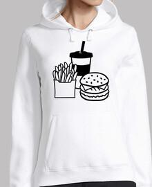 hamburguesa papas fritas beber