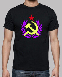 hammer and sickle red star tricolor