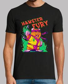 Hamster Fury - Hombre, manga corta, negra, calidad extra