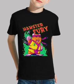 Hamster Fury - Niño, manga corta, negra
