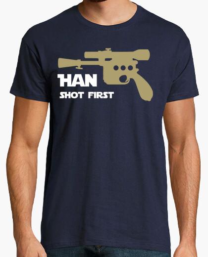 Camiseta Han shot first