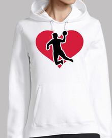 Handball player heart