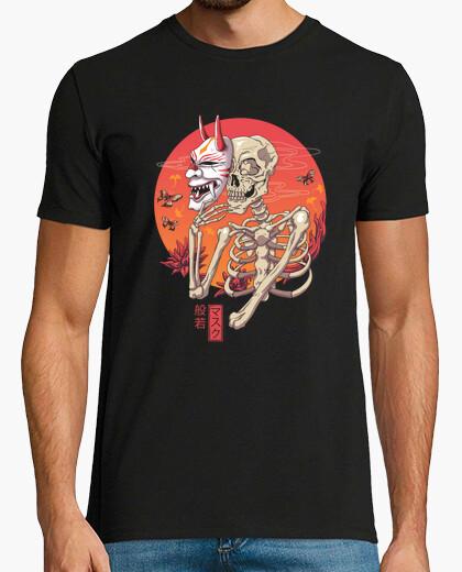 Hannya yokai mask shirt mens t-shirt