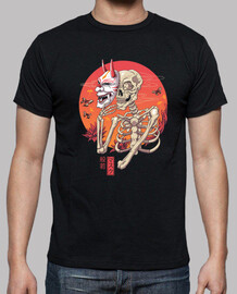 hannya yokai mask shirt mens