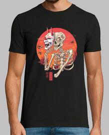 hannya yokai t-shirt uomo