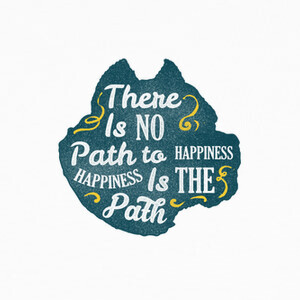Camisetas Happiness is the path