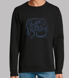 Happy Birthday (Lettering Azul)
