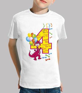 happy birthday number 4 dragon